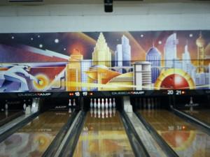 bowling alley meets Metropolis