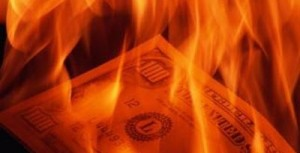money-burning